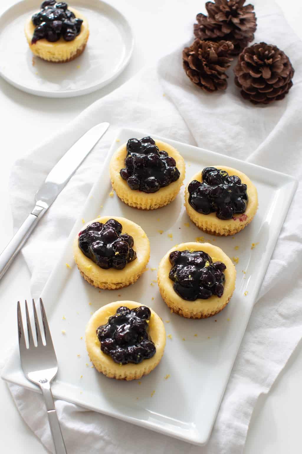 Lemon Cheesecake Bites w/ Blueberries