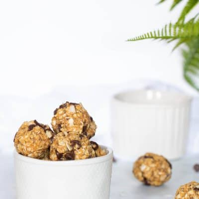 Chocolate Chip + Coconut No-Bake Energy Bites