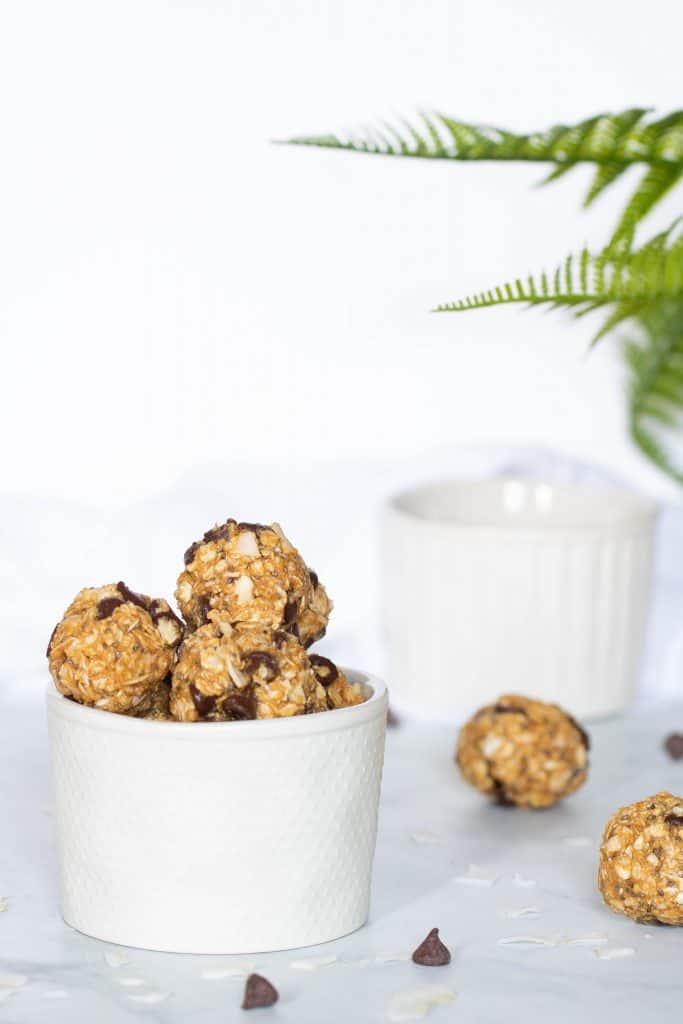 Chocolate Chip + Coconut No-Bake Energy Bites