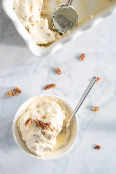 No-Churn Butter Pecan Ice Cream