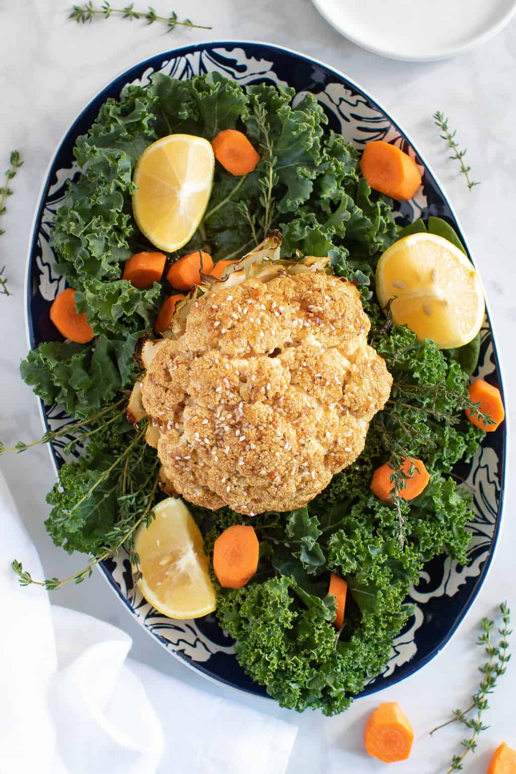 Sticky Teriyaki + Maple Whole Roasted Cauliflower