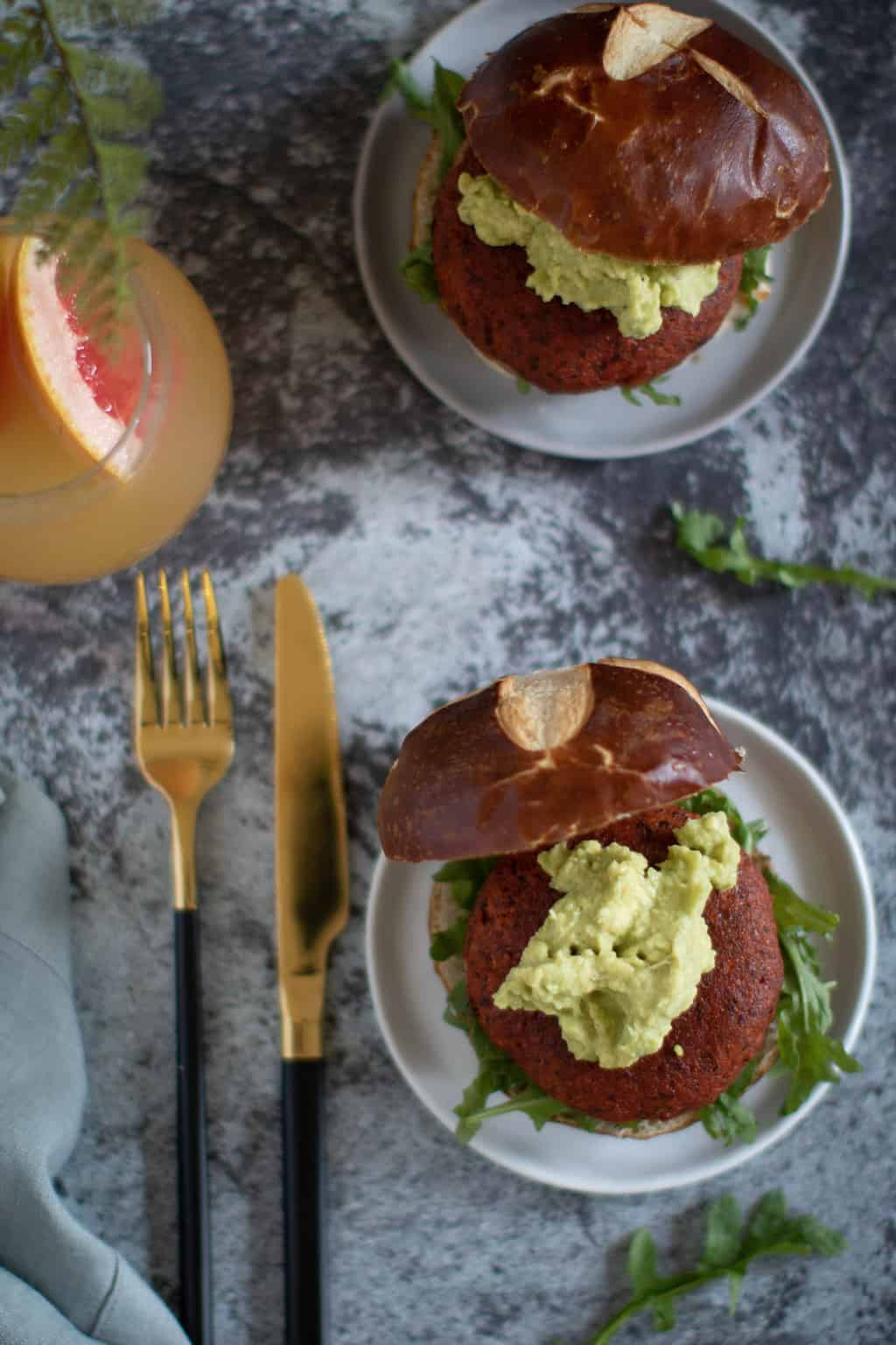 Brooklyn-inspired Chickpea Veggie Burger