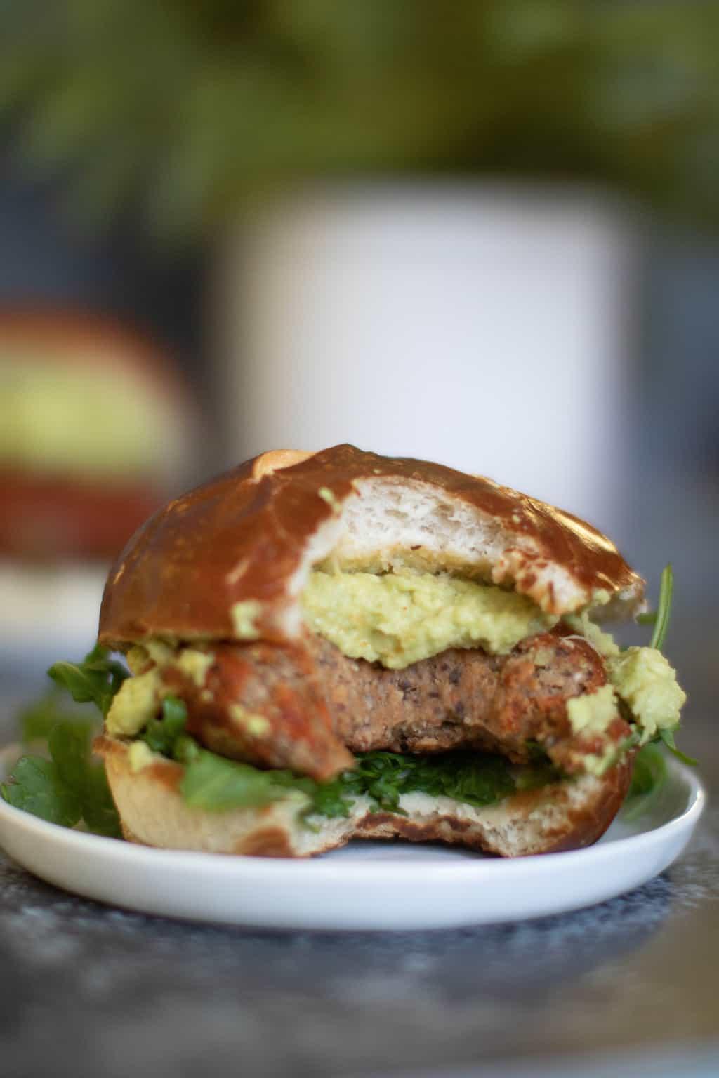 Brooklyn-inspired Chickpea Veggie Burger