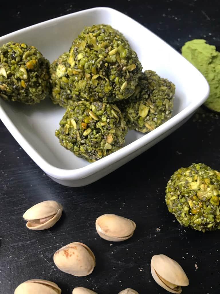 No- Bake Matcha Green Tea Energy Bites