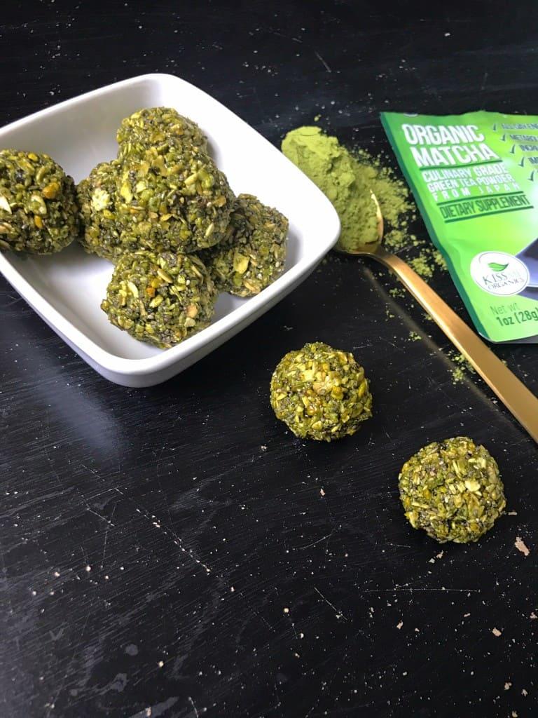 No-Bake Matcha Green Tea Energy Bites