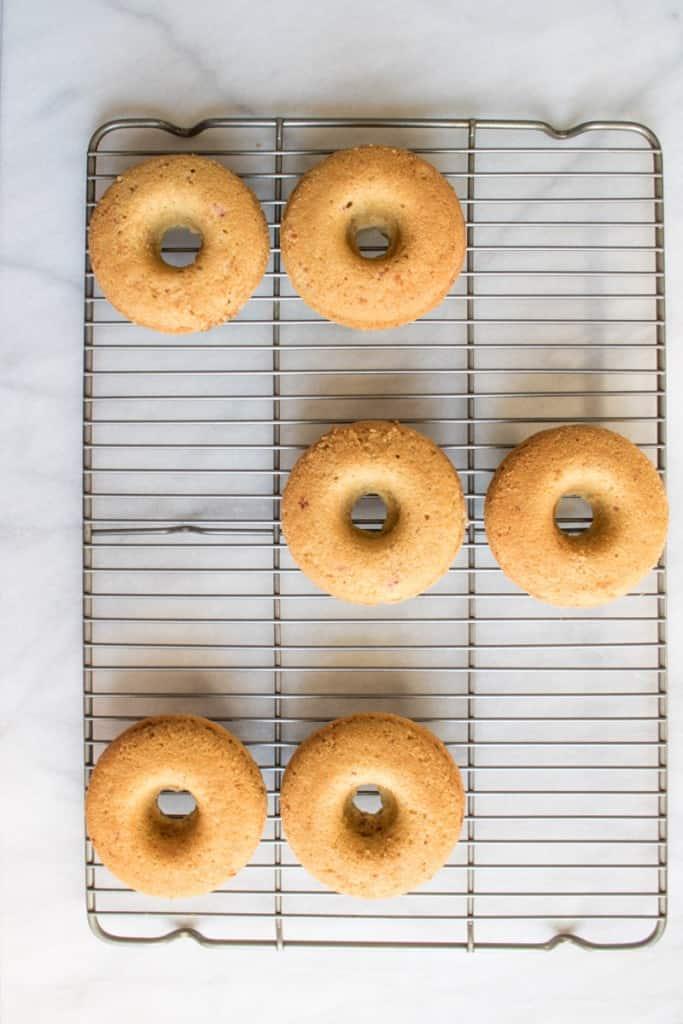 Delicious Lemon Raspberry Glazed Doughnuts