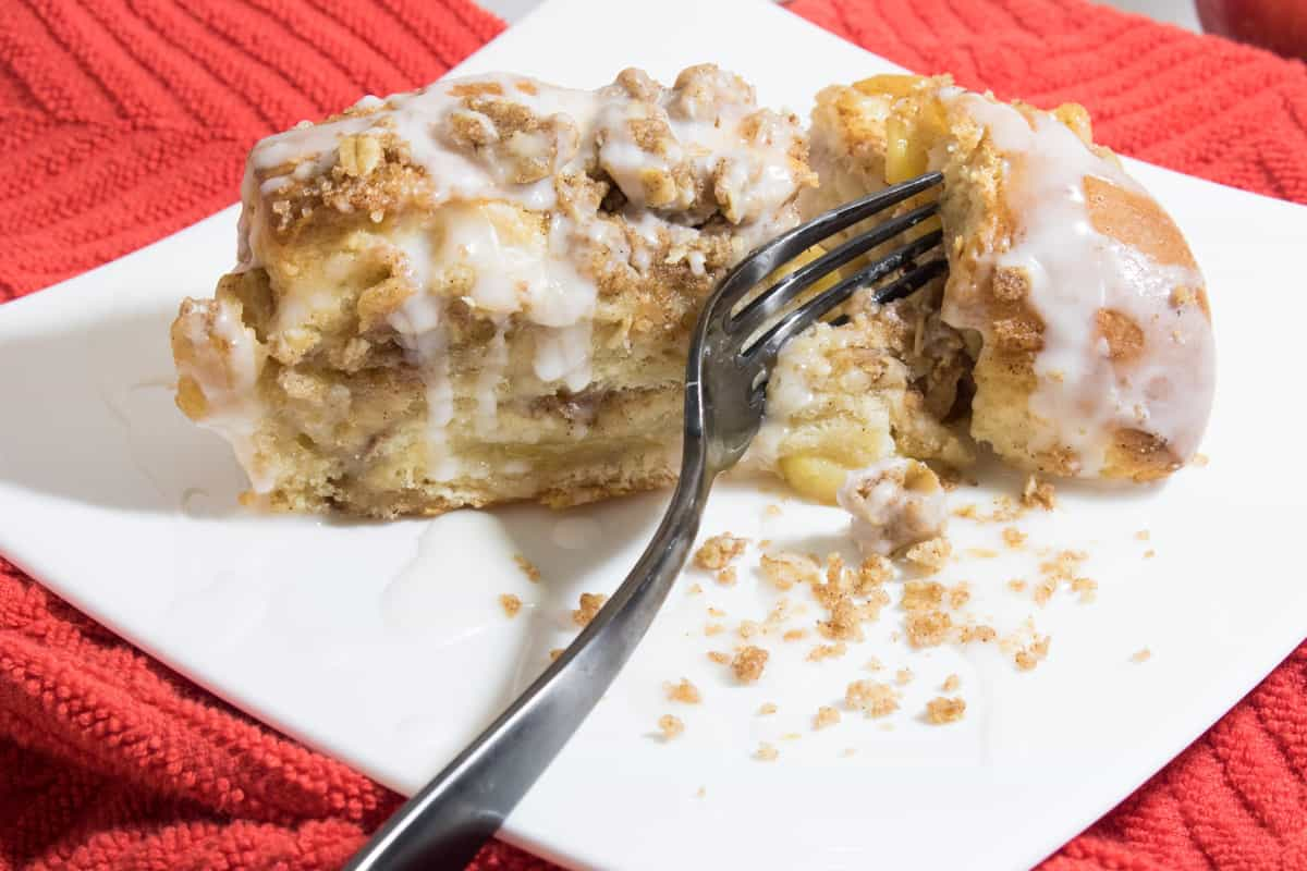 Apple Cinnamon Crumble Pull Apart Bread