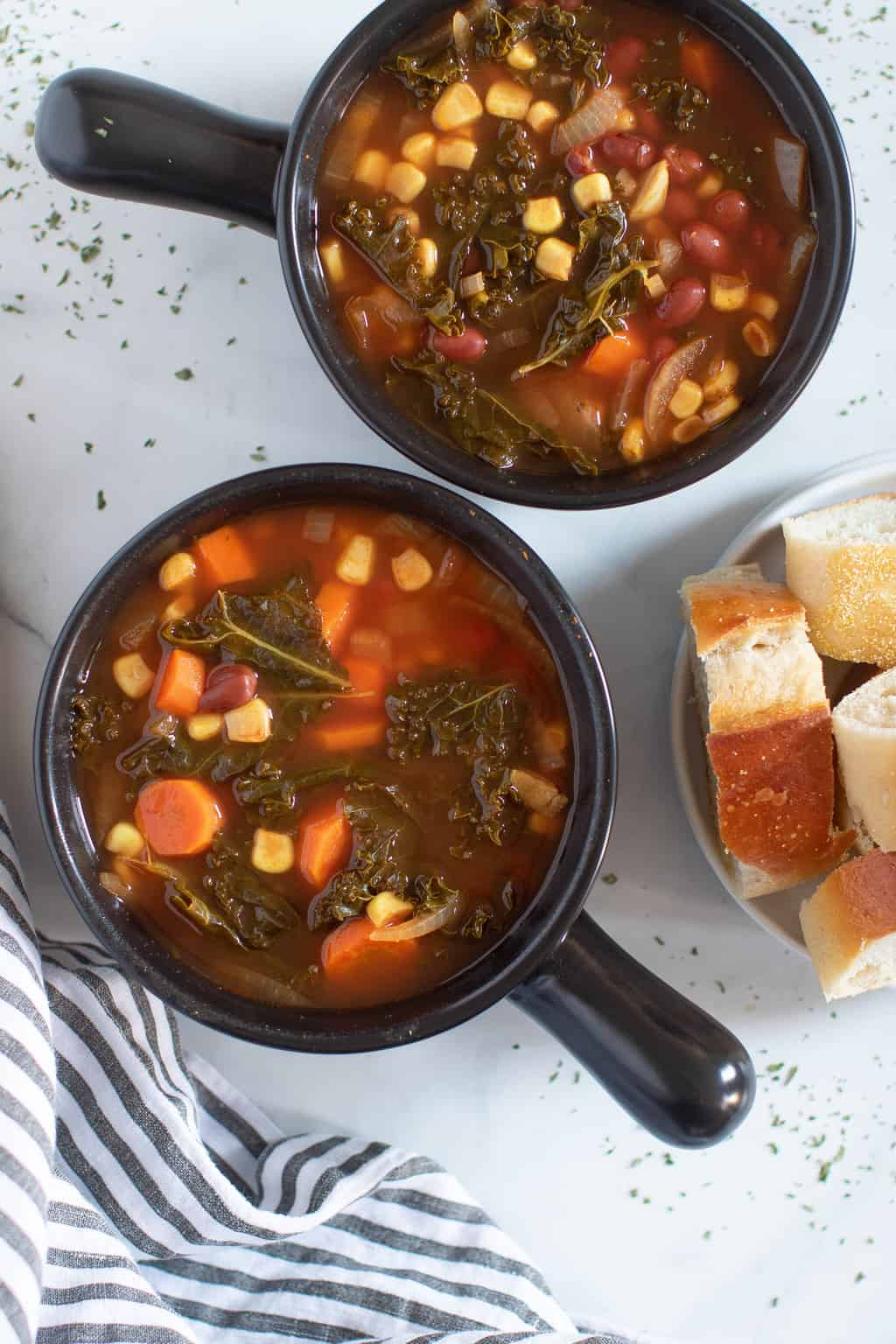 Slow Cooker Loaded Vegan Veggie Soup