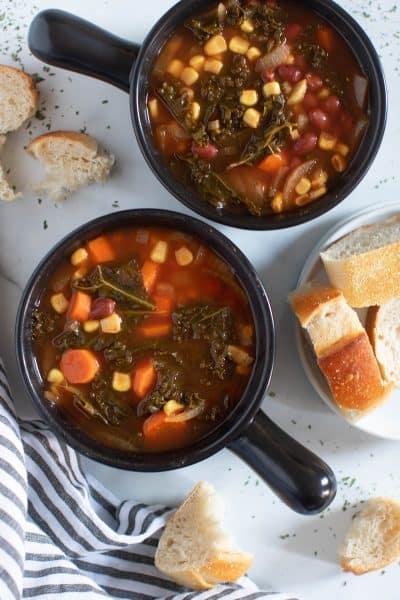 Slow Cooker Loaded Vegan Veggie Soup