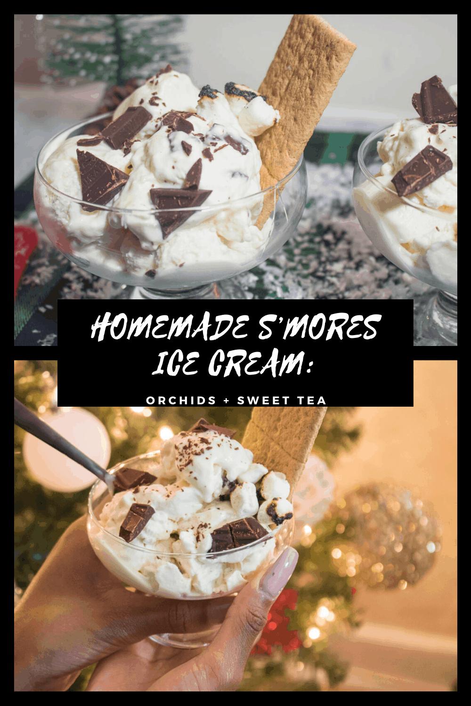 HOMEMADE S'MORES ICE CREAM: