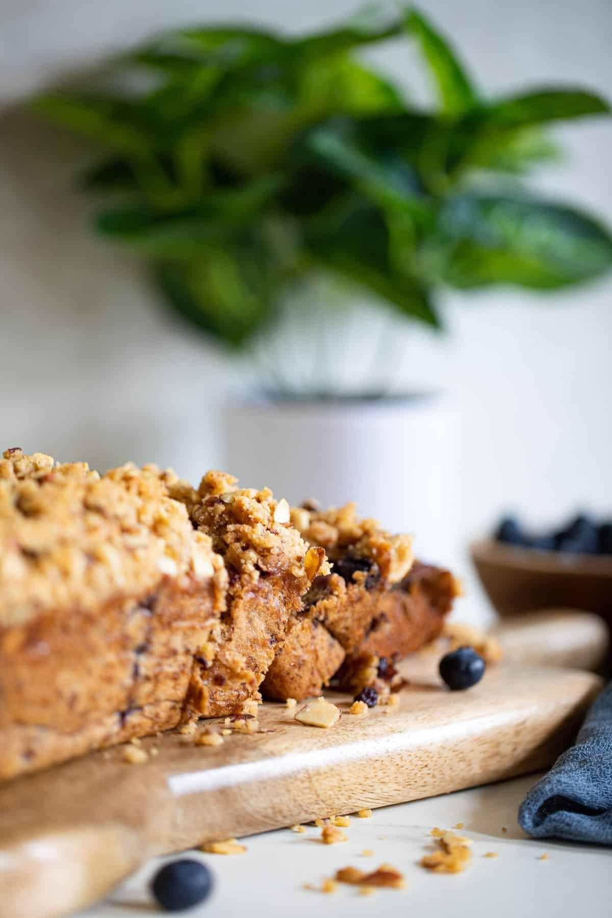 Almond-Cinnamon Crunch Blueberry Banana Bread