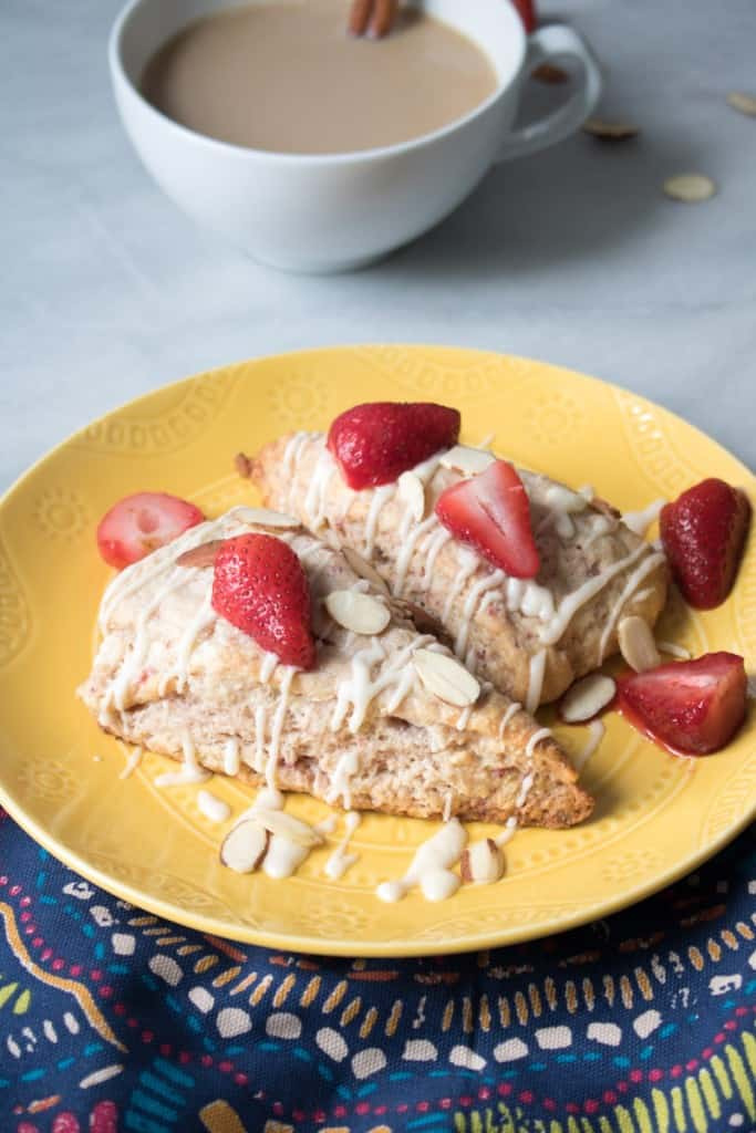Strawberry Cream Cheese Breakfast Scones