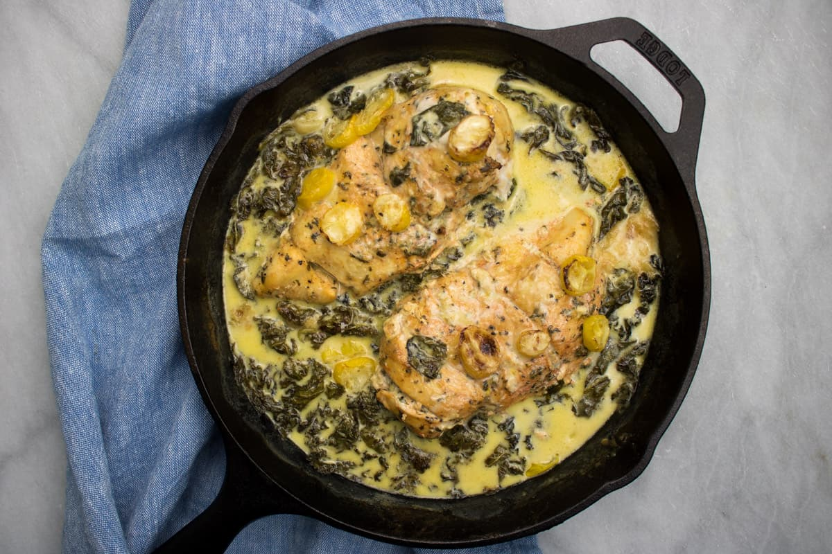 Creamy Lemon + Herb Parmesan Chicken
