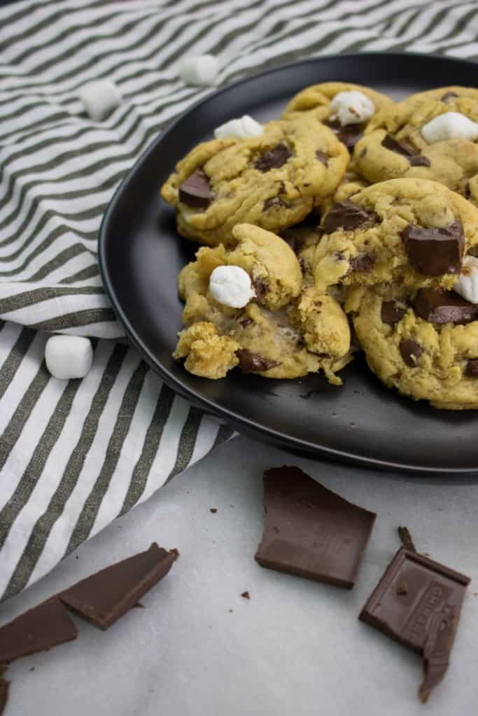 Gooey Marshmallow Chocolate Chip Cookies