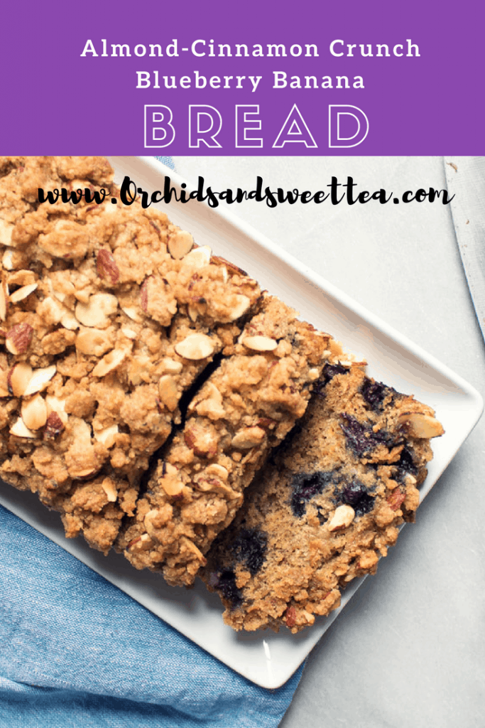 Almond-Cinnamon Crunch Blueberry Banana Bread