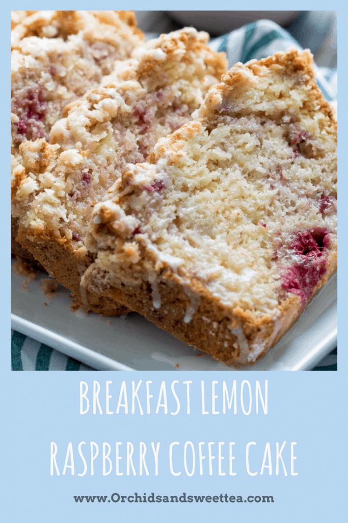 Breakfast Lemon Raspberry Coffee Cake