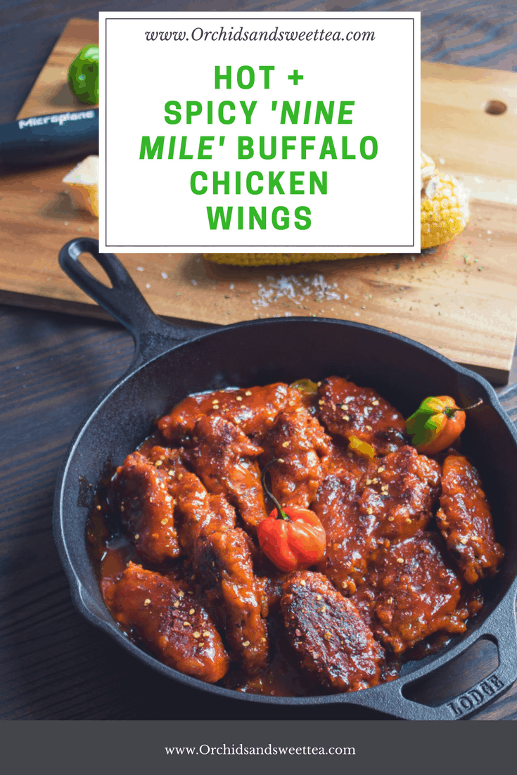 Hot + Spicy Nine Mile Buffalo Chicken Wings