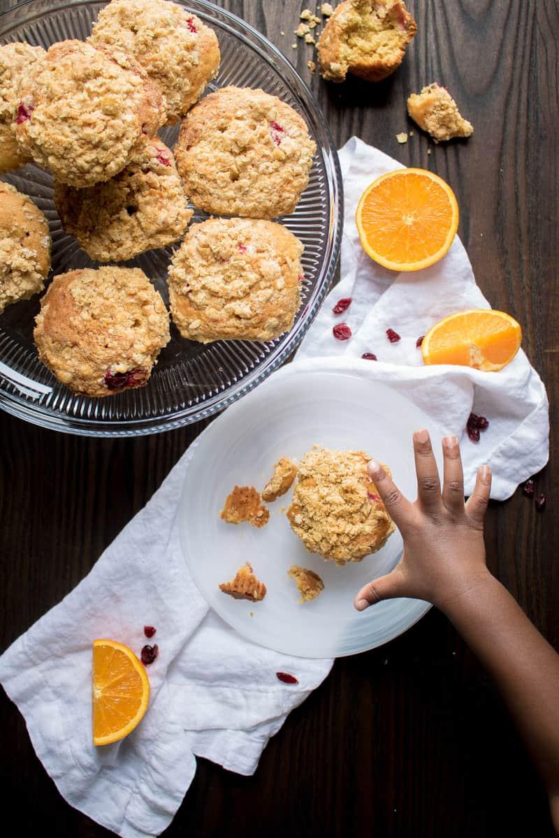 Cranberry Orange Crumble Muffins