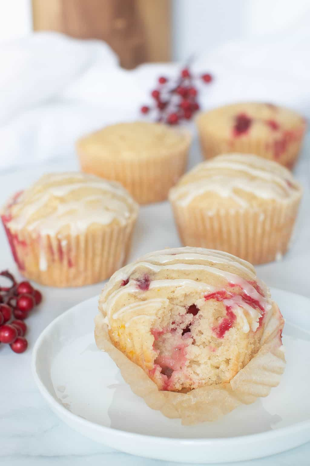 Vegan Orange Cranberry Breakfast Muffins