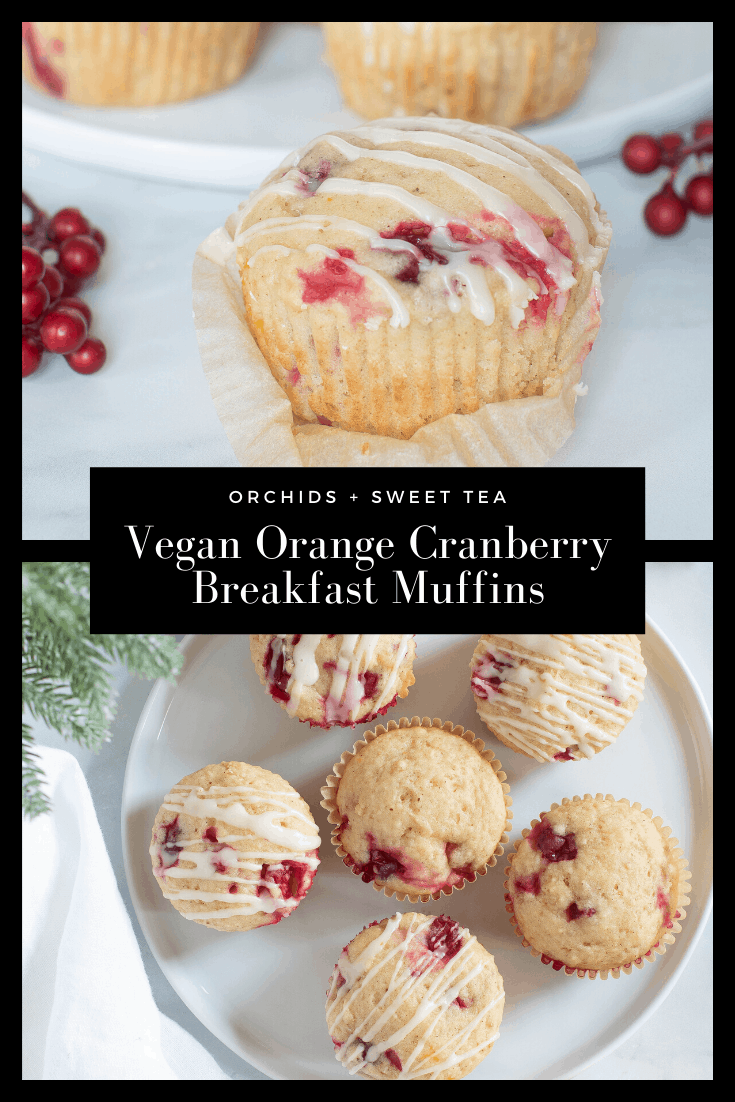 Vegan Orange Cranberry Breakfast Muffins
