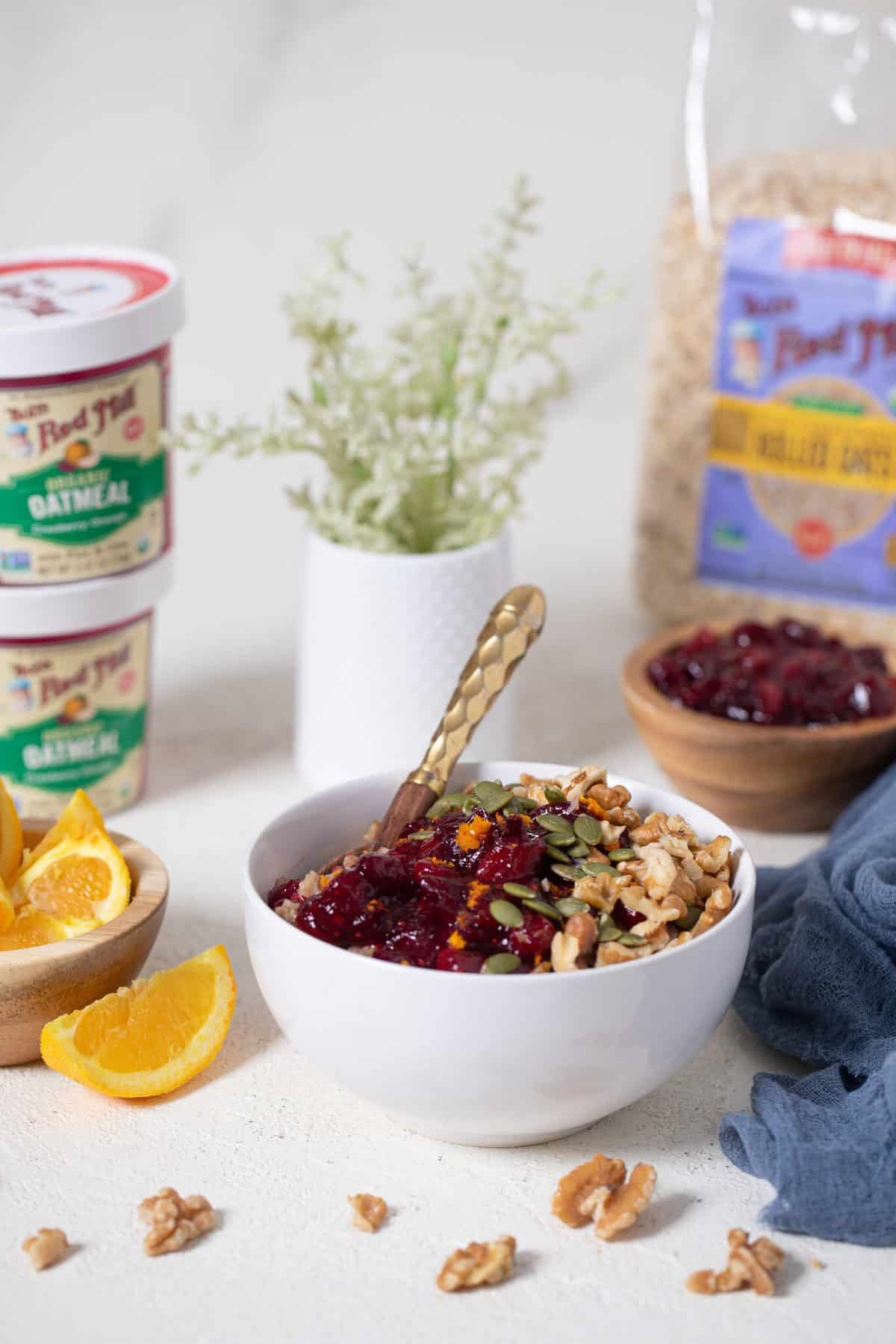 Healthy Cranberry Orange Oatmeal