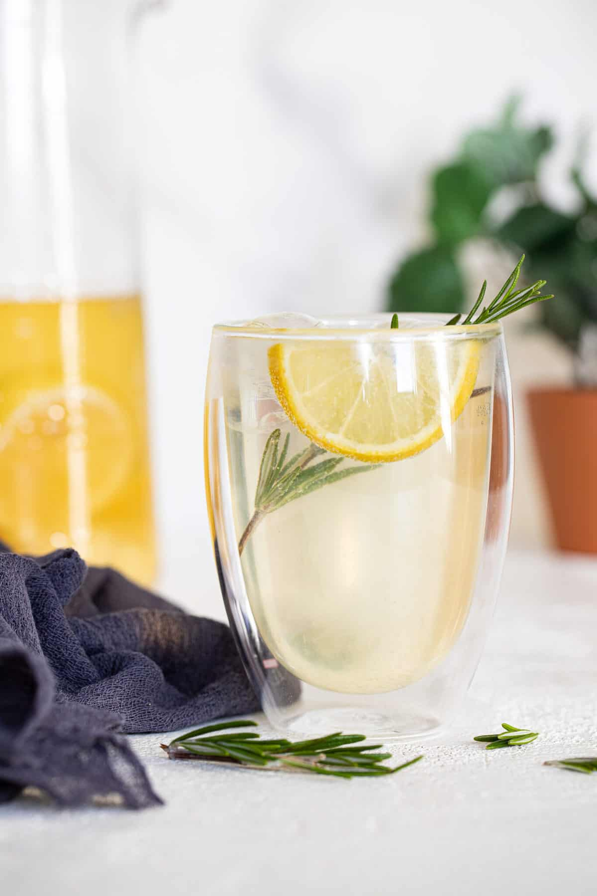 Natural Homemade Lemon Ginger Ale