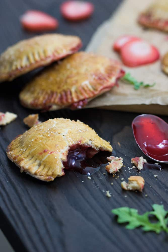 Easy Strawberry Cinnamon Whole Wheat Hand Pies