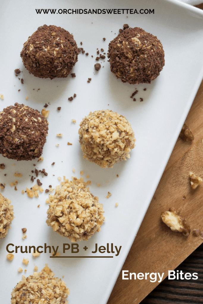 Crunchy PB + Jelly Energy Bites