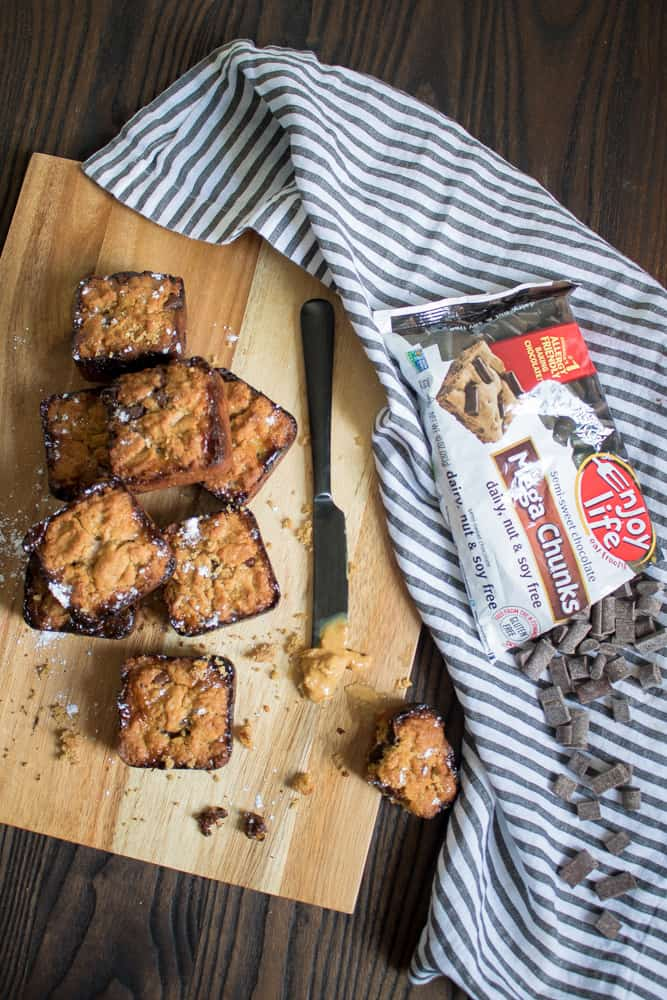 Gooey Peanut Butter Banana Cookie Bars