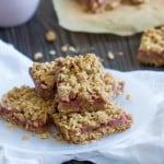 Vegan Strawberry Peanut Butter Oatmeal Bars