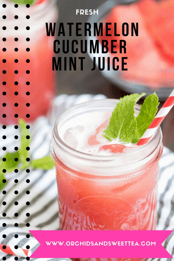 Fresh Watermelon Cucumber Mint Juice