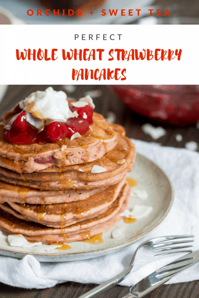 Perfect Whole Wheat Strawberry Pancakes