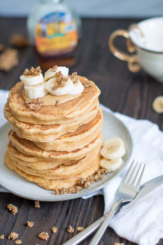 Thick + Fluffy Sweet Potato Pancakes