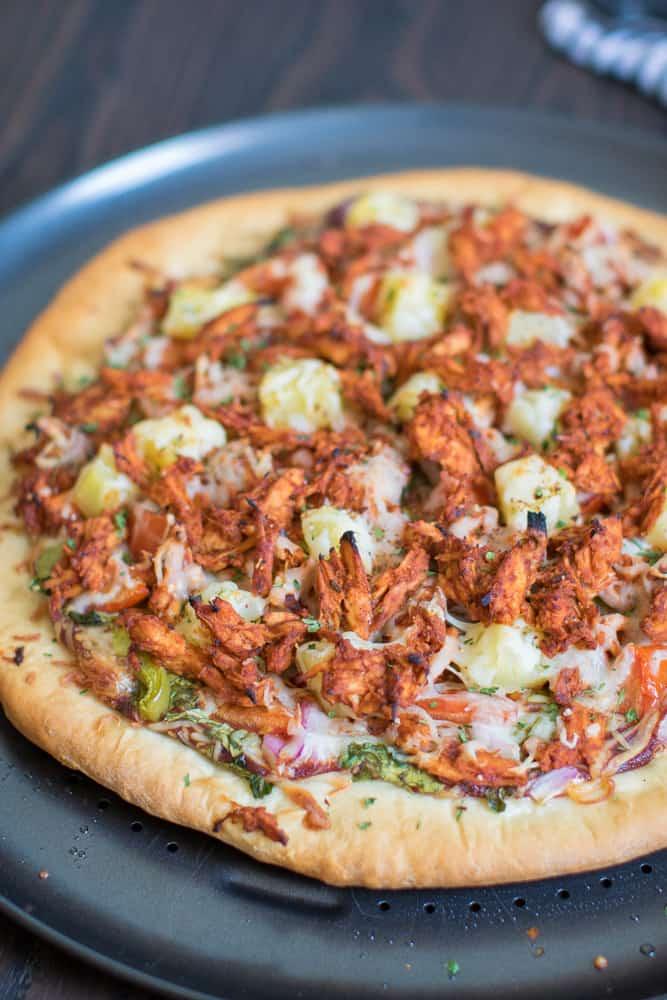 Hawaiian BBQ Buffalo Chicken Pizza