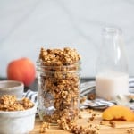 Caramelized Peach Cinnamon Breakfast Granola
