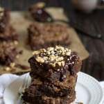 Vegan Chewy, Fudge Avocado Walnut Brownies