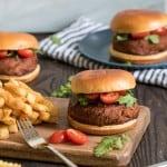 Spicy BBQ Lentil Quinoa Vegan Burgers