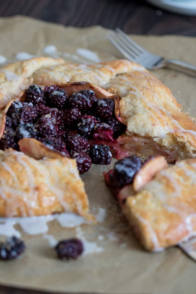 Vegan Apple Blackberry Galette