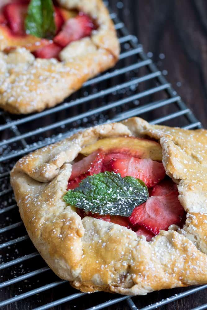 Mini Vegan Strawberry Peach Galettes