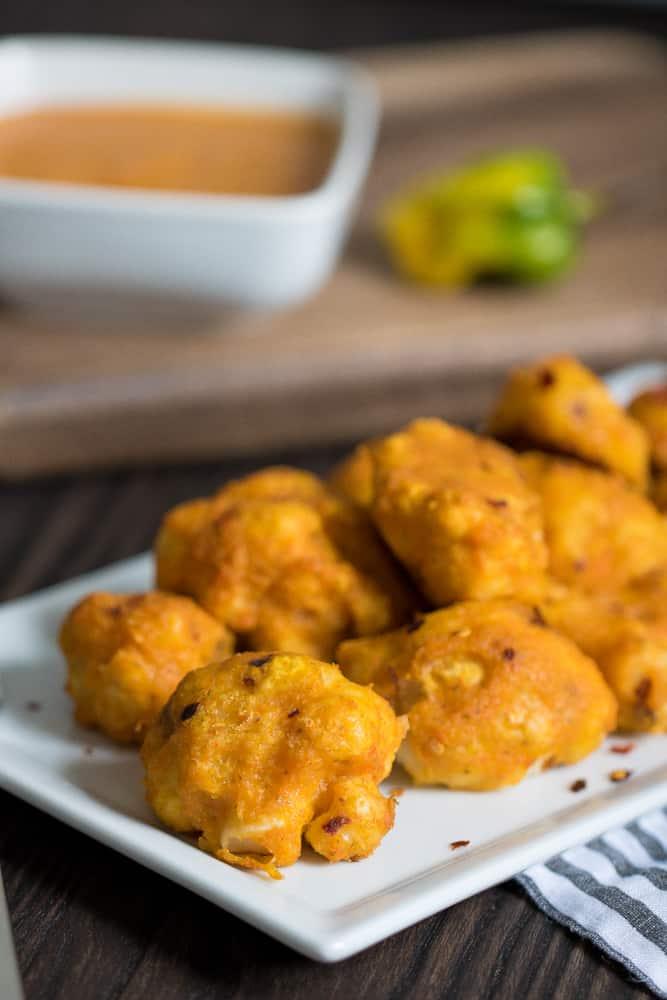 Vegan Mango Habanero Cauliflower Bites