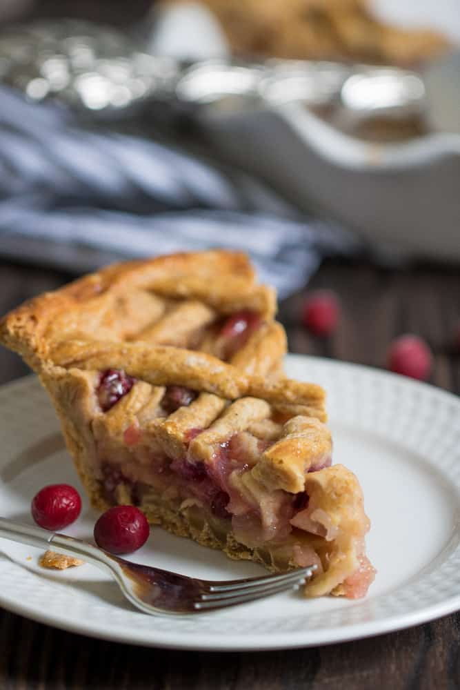 Gingerbread Apple Cranberry Vegan Pie