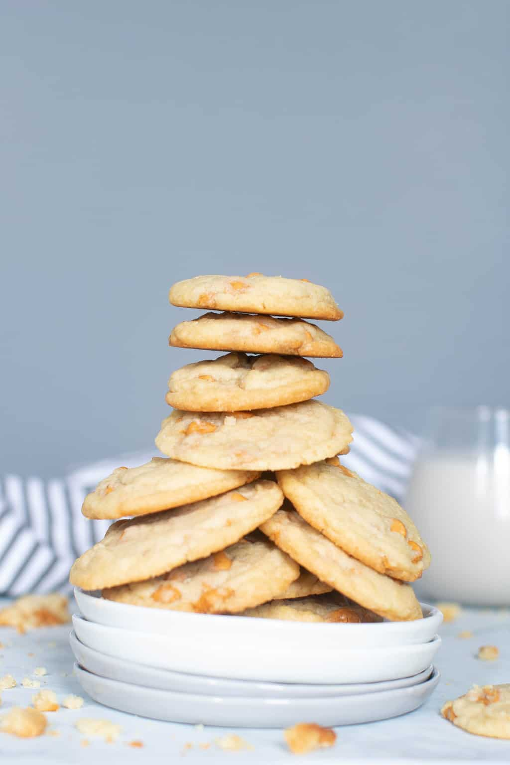 Soft + Crisp Crinkled Butterscotch Cookies