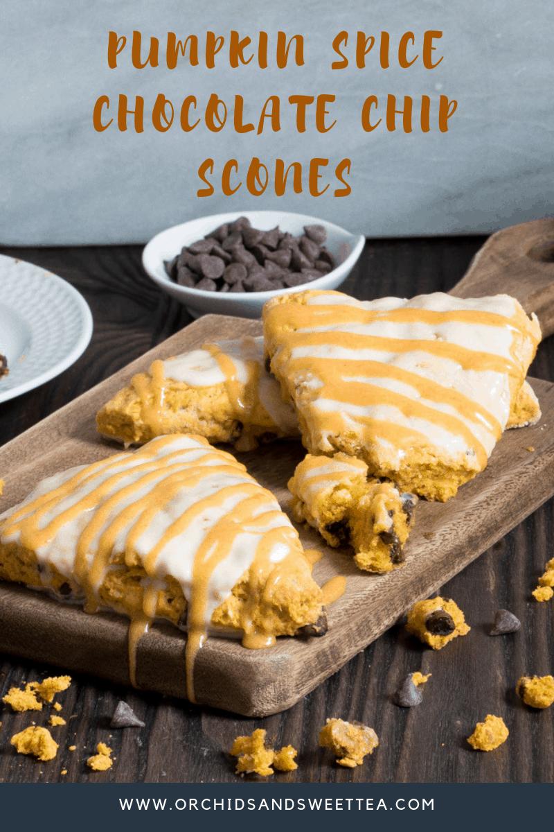 Pumpkin Spice Chocolate Chip Scones