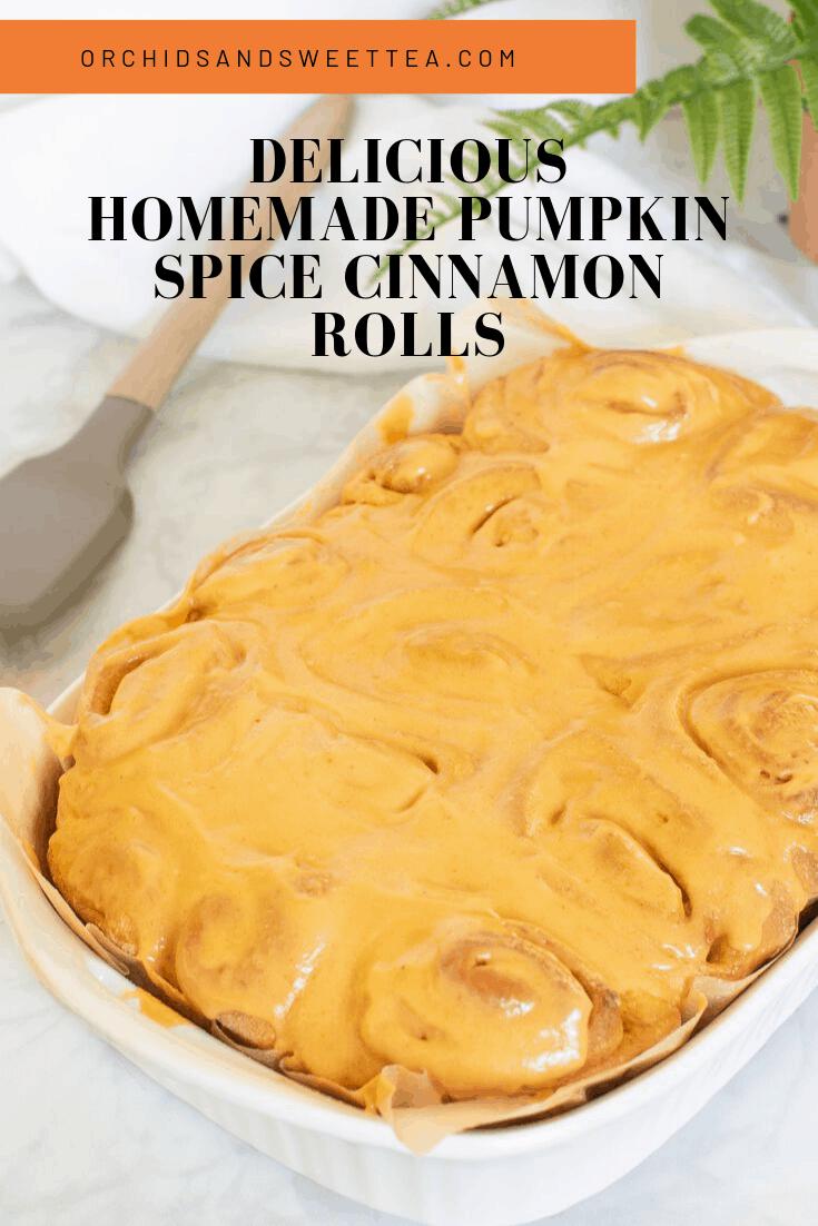 Delicious Homemade Pumpkin Spice Cinnamon Rolls