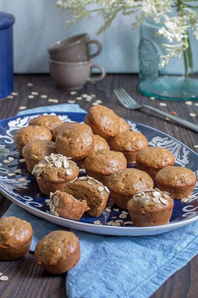 Vegan Banana SunButter Mini Muffins