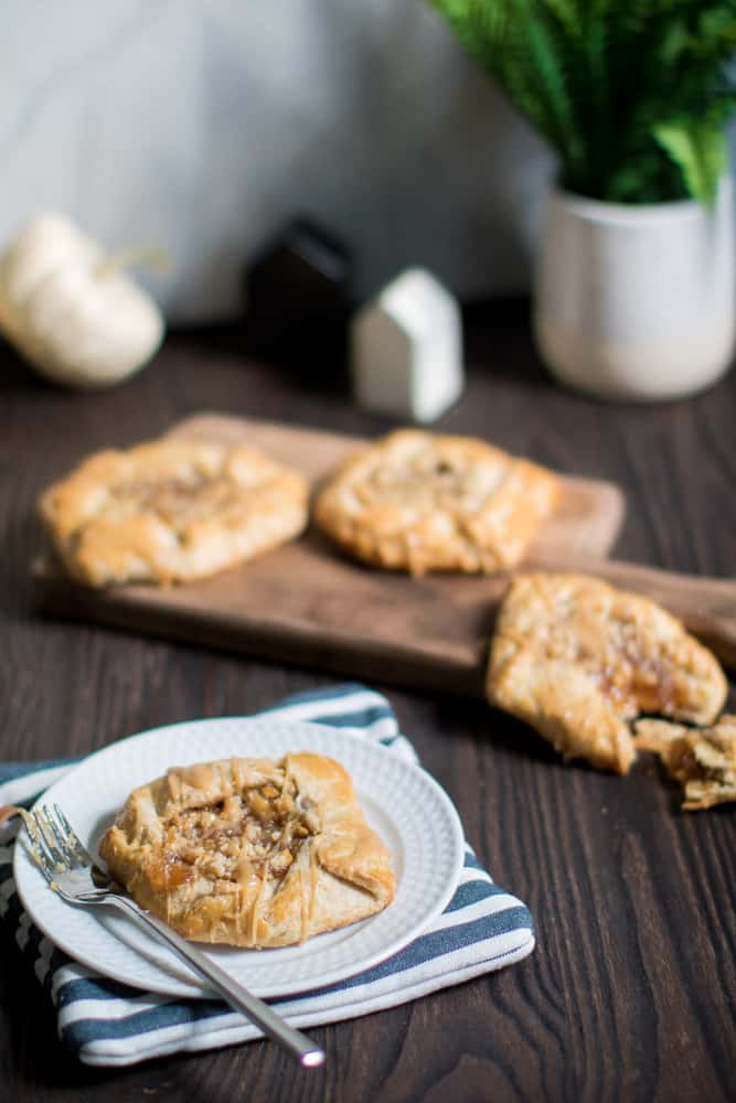 Mini Salted Caramel Apple 'Pie' Galettes