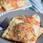 Strawberry Glazed Vegan Breakfast Pop Tarts