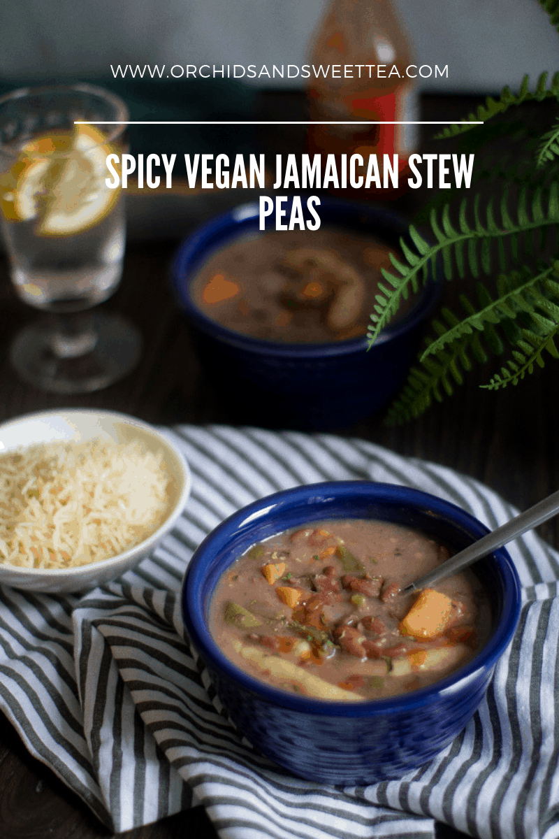 Spicy Vegan Jamaican Stew Peas
