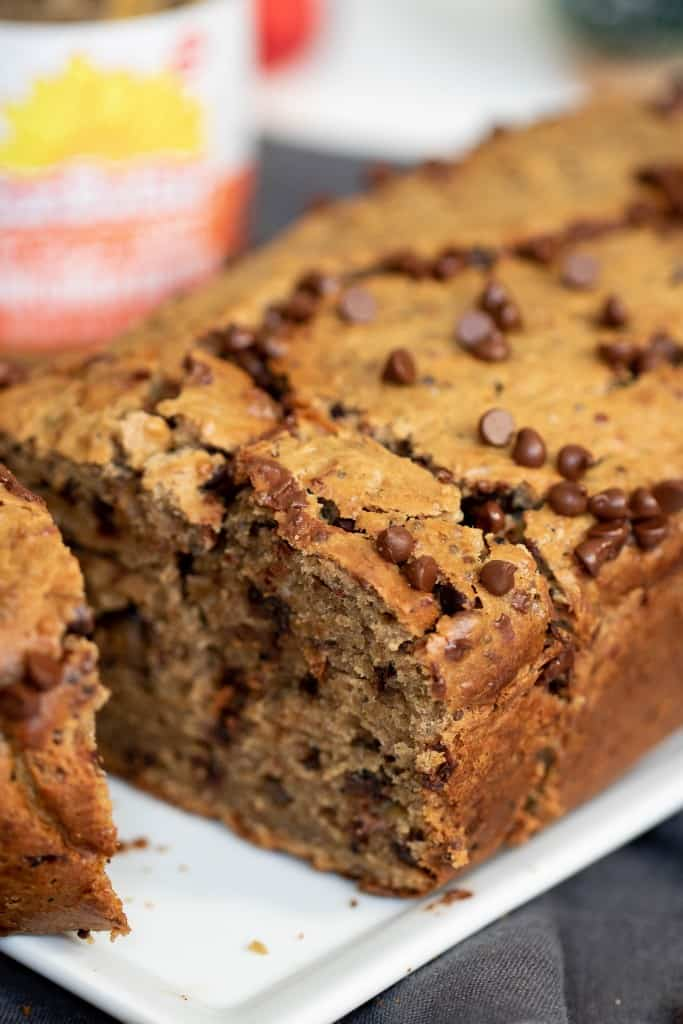 SunButter Chocolate Chip Quinoa Banana Bread