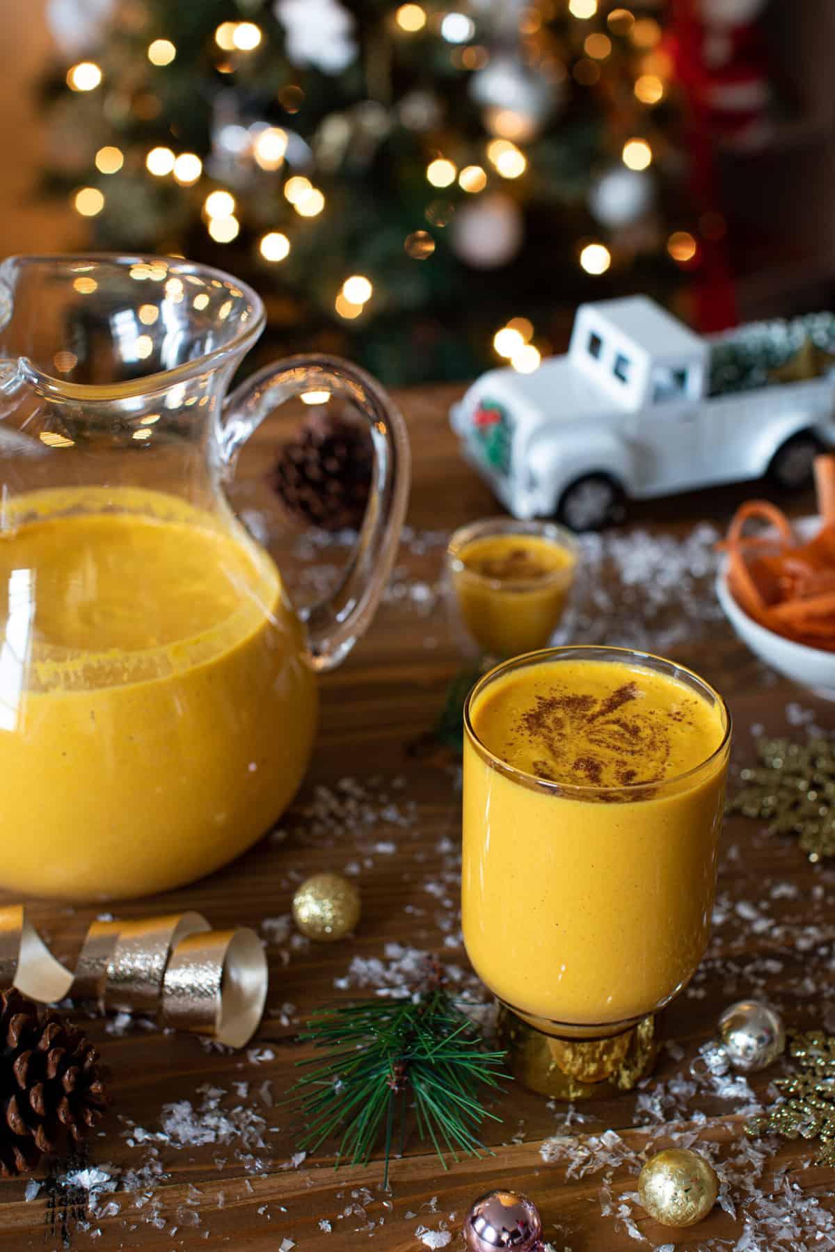Creamy Jamaican-Inspired Vegan Carrot Juice